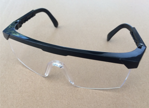 Reusable safety glasses provide reusable eye protection recommended when caring for all patients regardless of infection status.